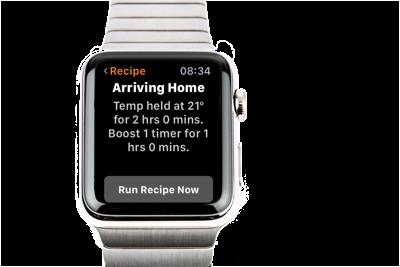 Running a Recipe on Apple Watch